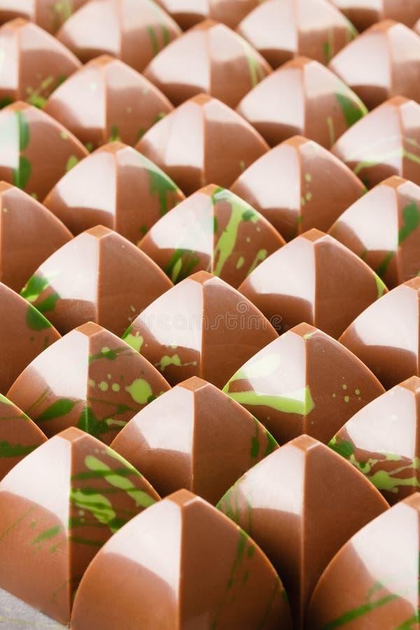 Lotto dei bonbon del cioccolato immagini stock