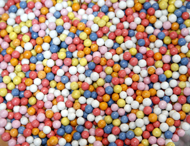 Lotto dei confetti dolci colorati fotografie stock