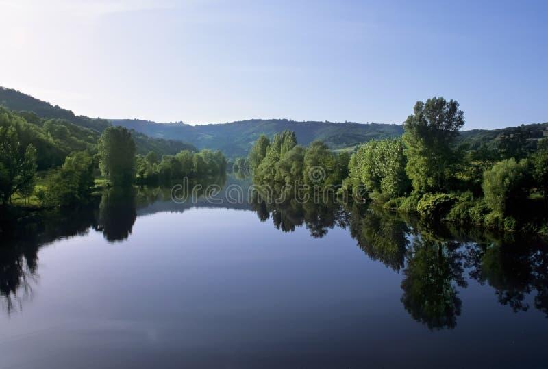 Lotto del fiume della Francia Midi pyrenees fotografia stock