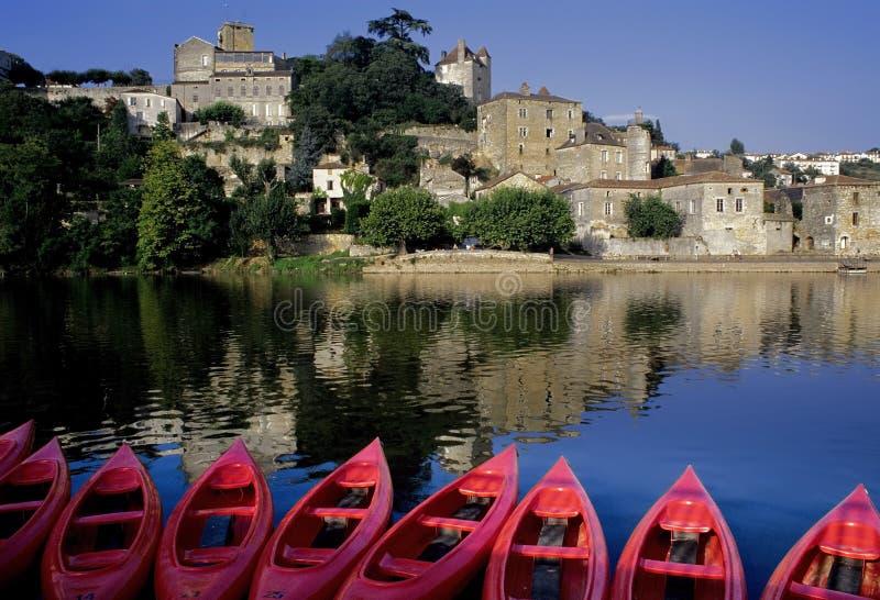 Lotto del fiume della Francia Midi pyrenees fotografia stock libera da diritti