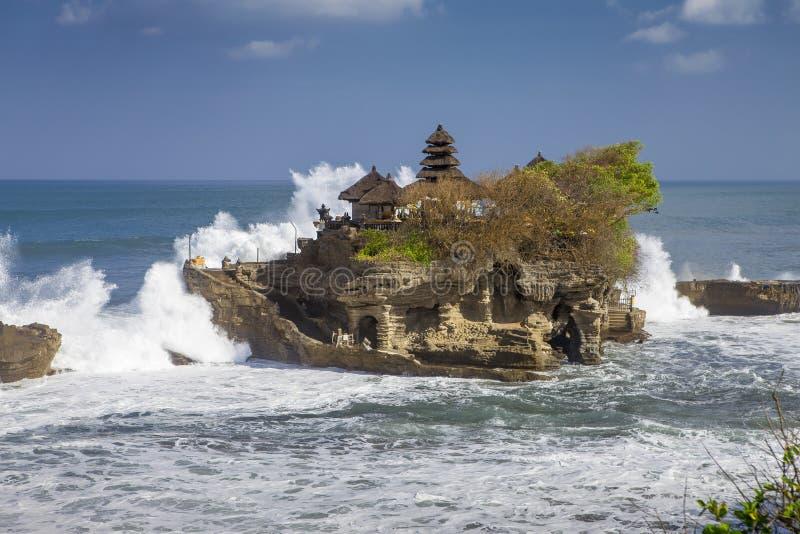 Lotto del tanah del tempio di Bali fotografie stock libere da diritti
