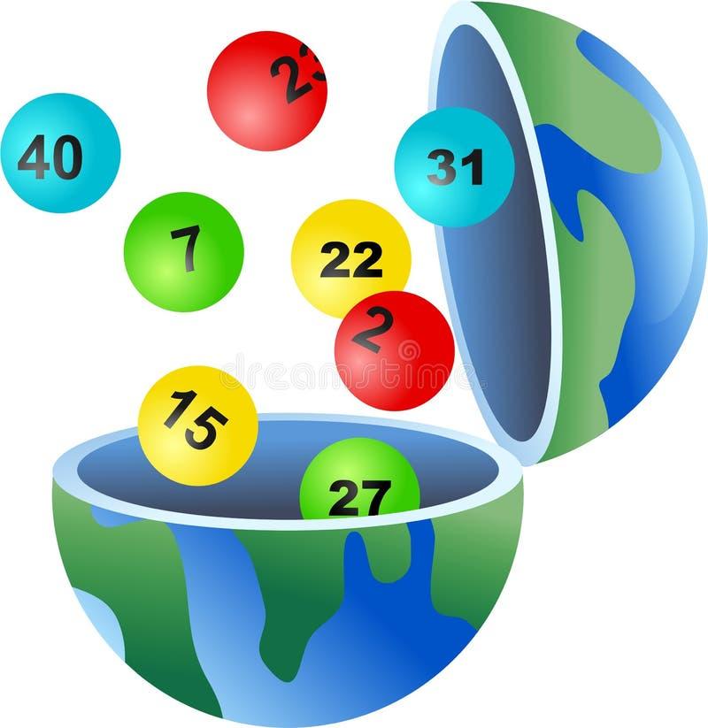 Lotto globe stock illustration