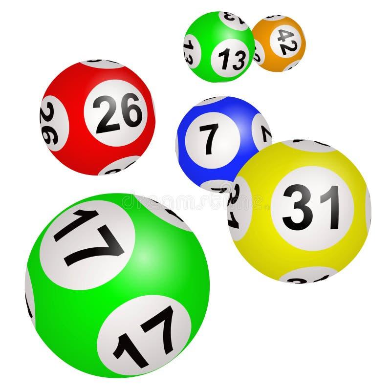 Lottot klumpa ihop sig p? en vit bakgrund royaltyfri illustrationer