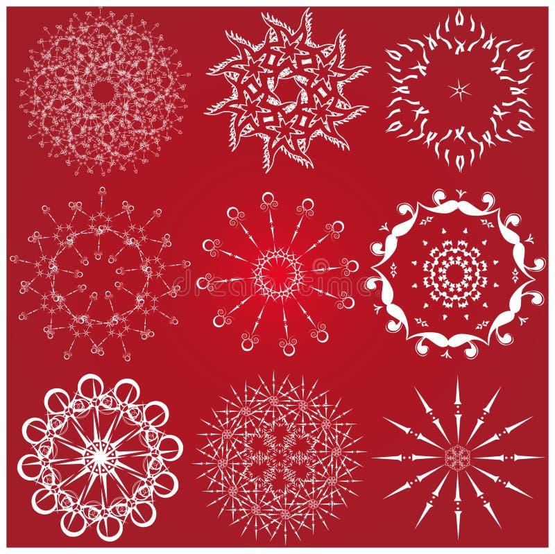 lottsnowflake vektor illustrationer