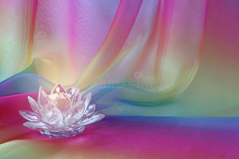 Lotus światła tęczy szyfonu tło obrazy stock