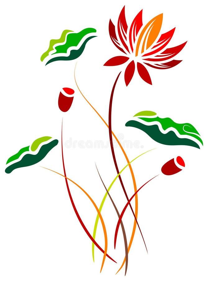 Lotus ilustração royalty free