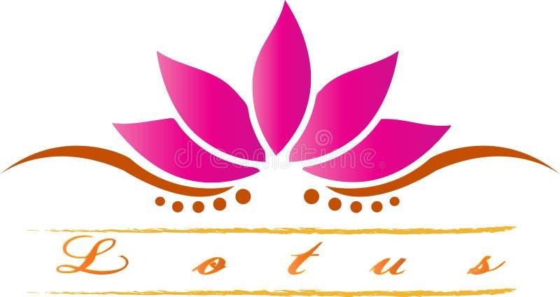 Lotus royaltyfri illustrationer