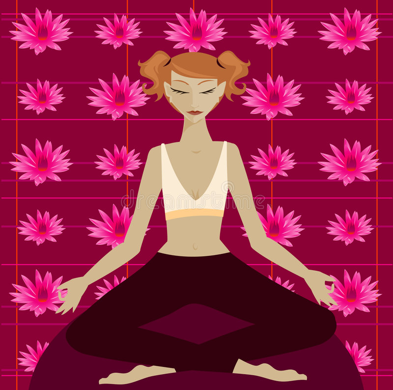 Download Lotus stock vector. Image of learn, fitness, pink, blonde - 818523