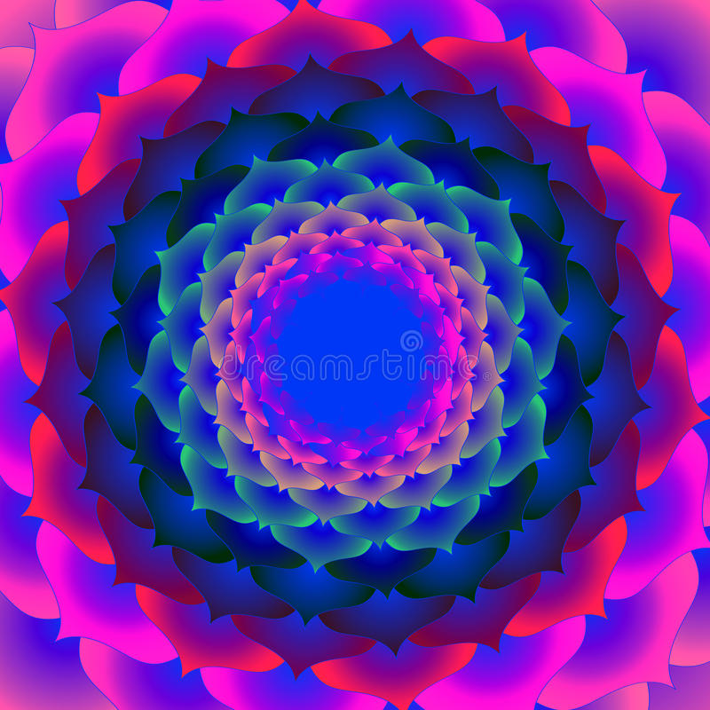 Download Lotus abstract stock illustration. Image of pink, design - 23608197