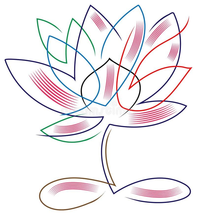 Lotus abstract vector illustration