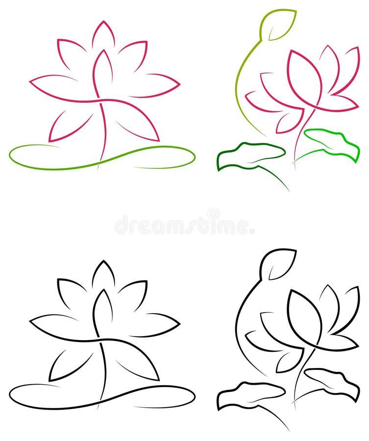 Lotus avec des feuilles illustration libre de droits