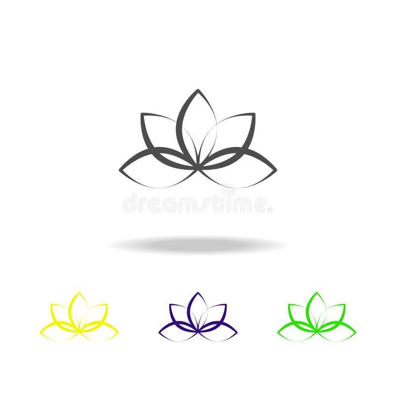 Lotus-bloem multicolored pictogram Element van gezond het levens multicolored pictogram Tekens en symbolen het inzamelingspictogr royalty-vrije illustratie