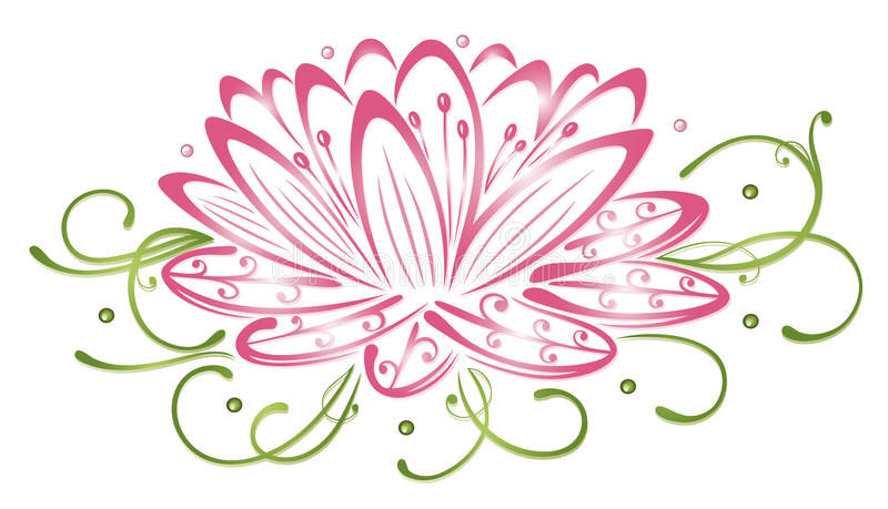 Lotus-bloemen stock illustratie