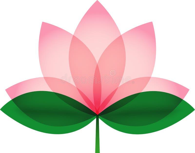 Lotus-bloesem voor pictogram of embleem royalty-vrije illustratie