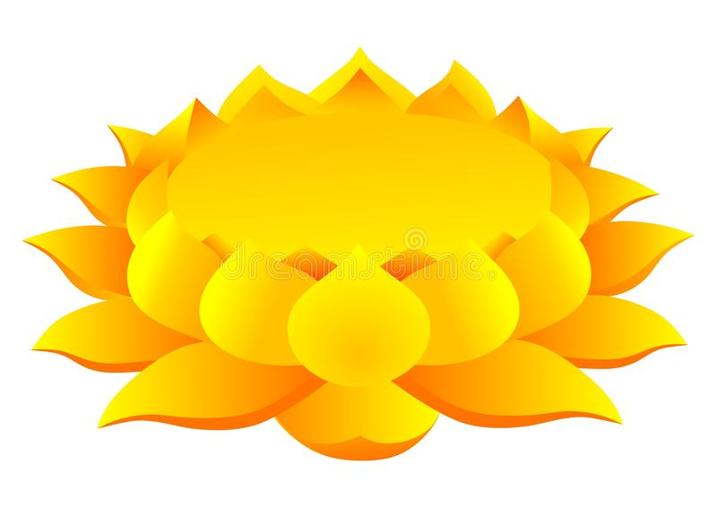 Lotus blomma royaltyfri illustrationer