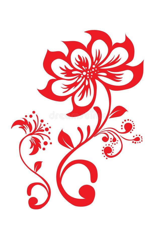 Lotus blommamodell royaltyfri illustrationer