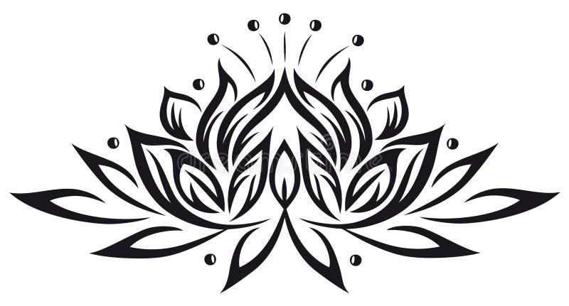 Lotus blommor royaltyfri illustrationer