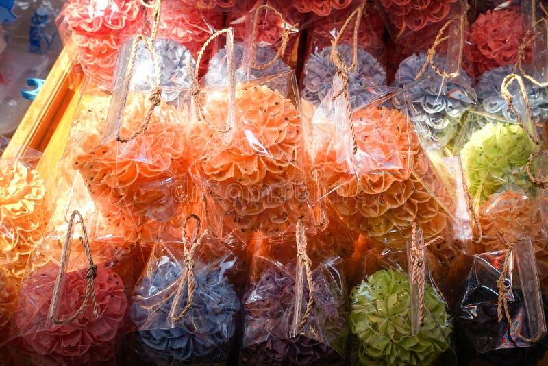 Lotus Blossom Cookie Kanom Dok curruscante Jok foto de archivo