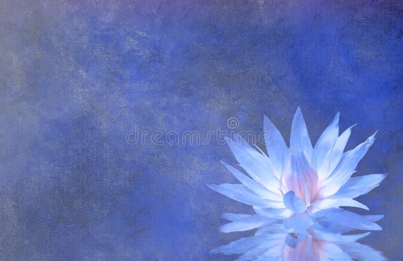 Lotus Blossom Textured Background royalty-vrije illustratie