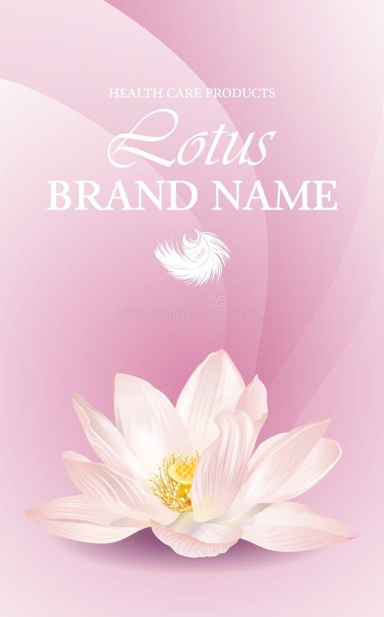 Lotus-Blumenfahne vektor abbildung