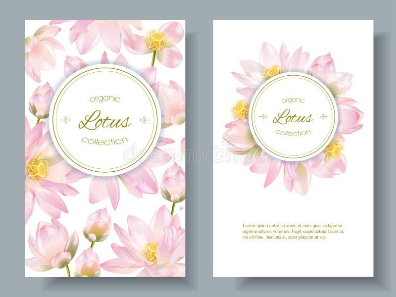 Lotus-Blumenfahnen lizenzfreie abbildung