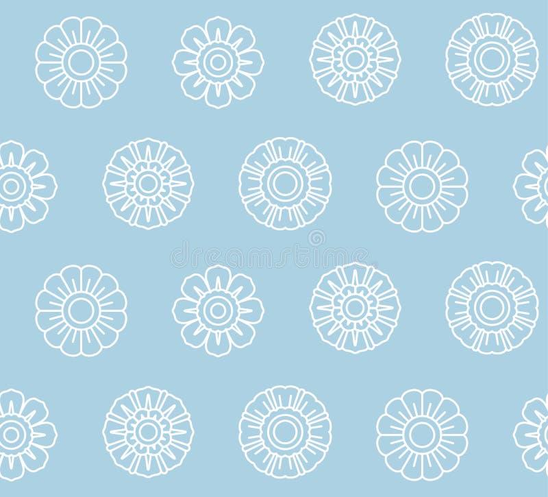 Lotus Bud Seamless Pattern tailandese illustrazione vettoriale