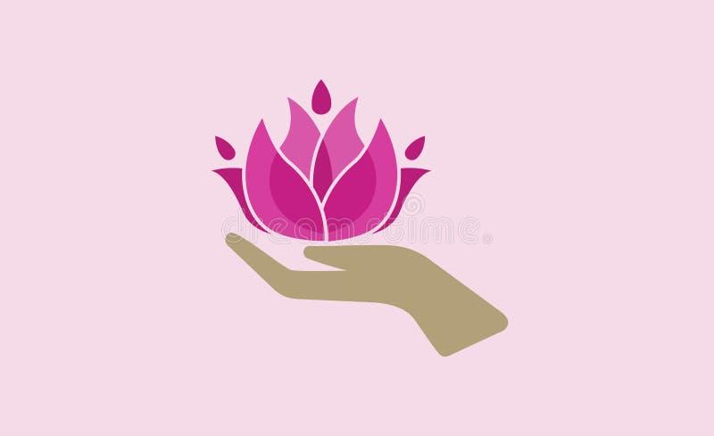 Lotus Care Logo Symbol Design Illustration. Lotus Care Logo Symbol Hand Design Illustration vector illustration