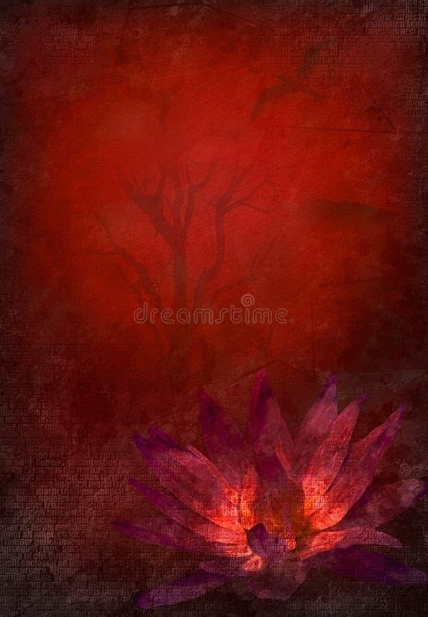 Lotus carmesim ilustração royalty free
