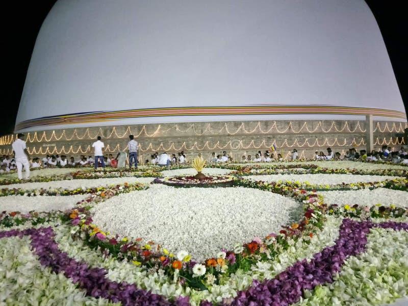 Lotus-ceremonie aan Tempel royalty-vrije stock afbeeldingen