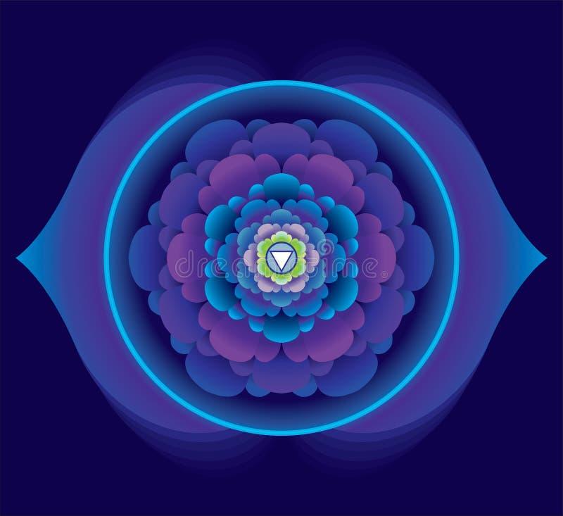 Lotus con dos pétalos - el tercer ojo stock de ilustración