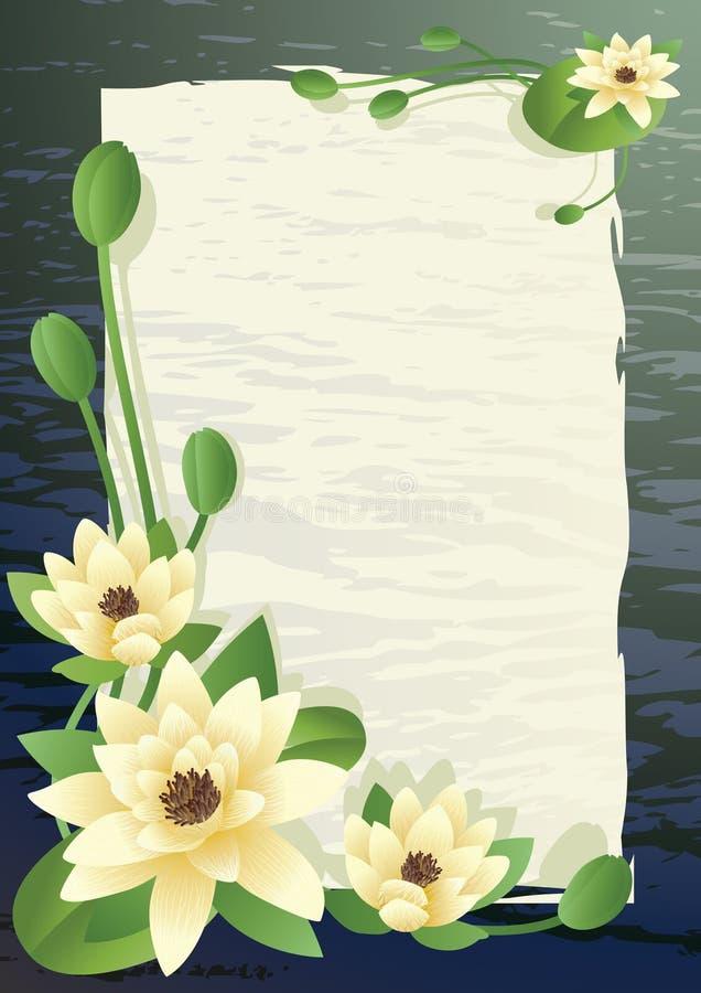 Lotus de floraison illustration stock