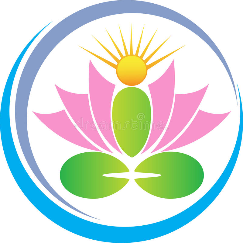 Lotus de méditation illustration de vecteur