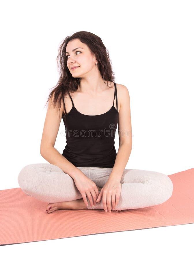 Lotus de yoga de femme image stock