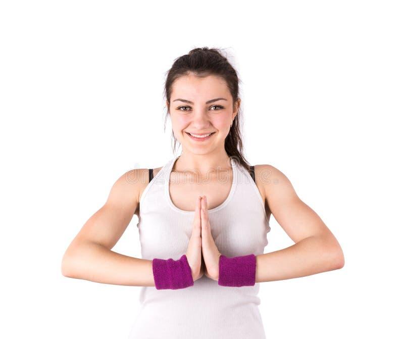 Lotus de yoga de femme images stock