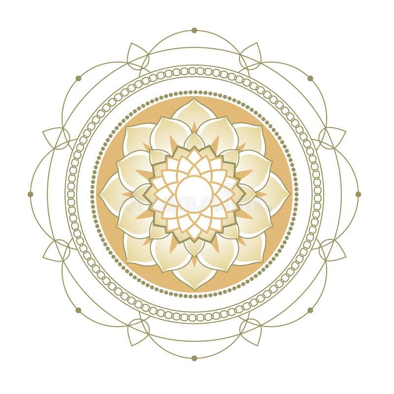 Lotus. Decorative ornament royalty free stock photos