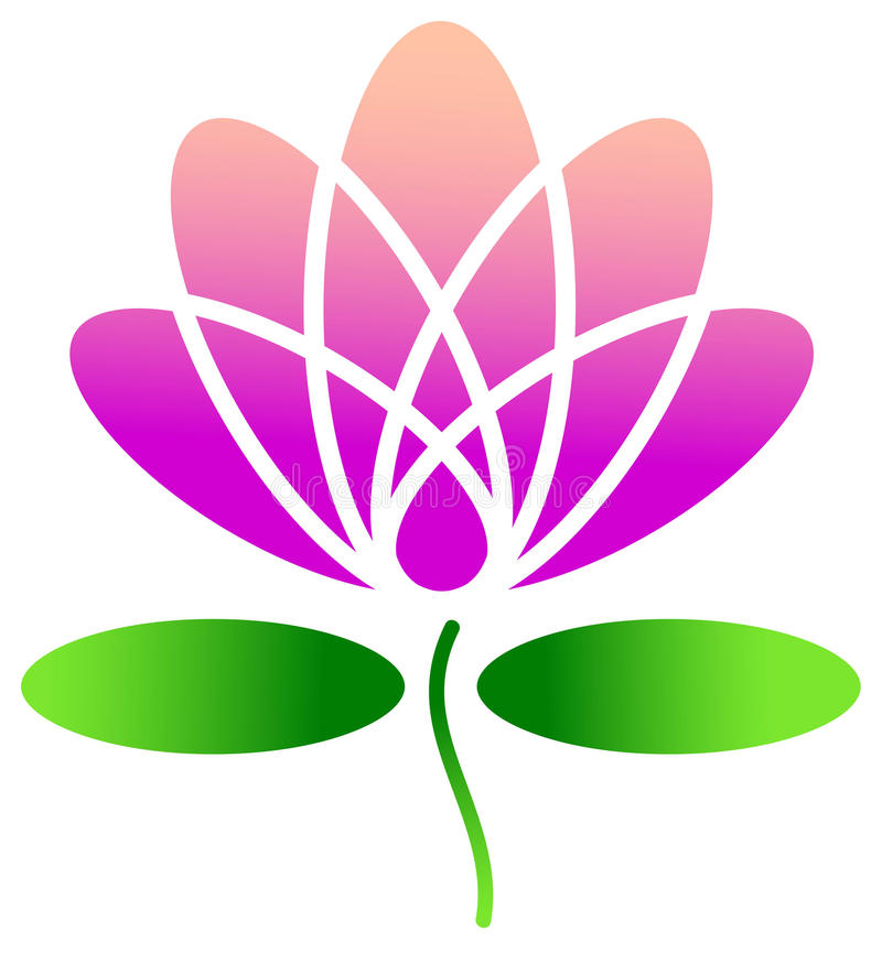Lotus design. Isolated illustrated lotus logo design royalty free illustration