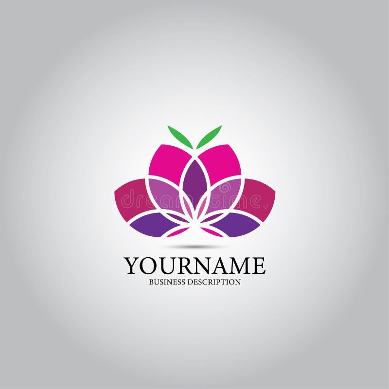 Lotus Design Vector Logo royaltyfri illustrationer