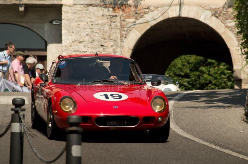 Lotus Elan al Gran Premio storico 2017 di Bergamo fotografia stock libera da diritti