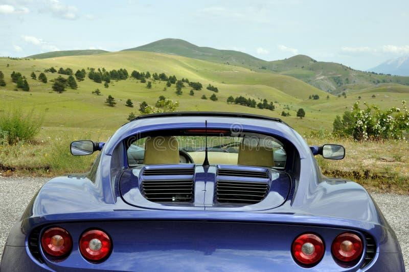 Lotus Elise - vista della valle del parco nazionale di sasso di gran immagine stock
