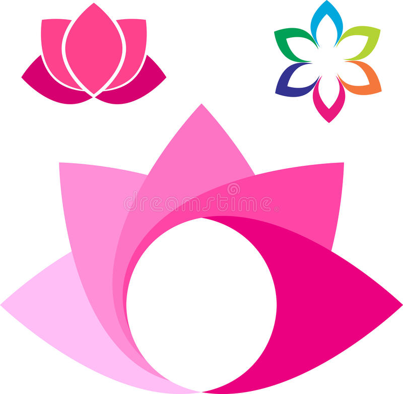 Lotus-embleem vector illustratie