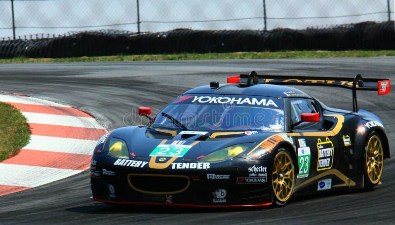 Lotus Evora-raceauto stock foto's