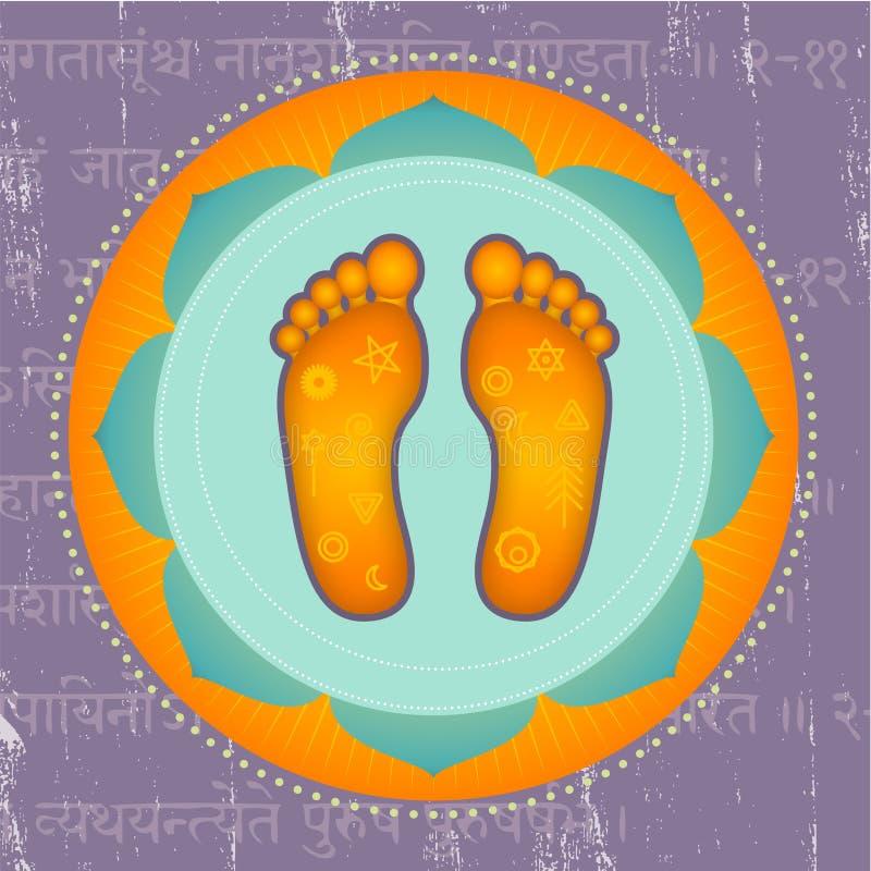 Lotus Feet royalty free illustration