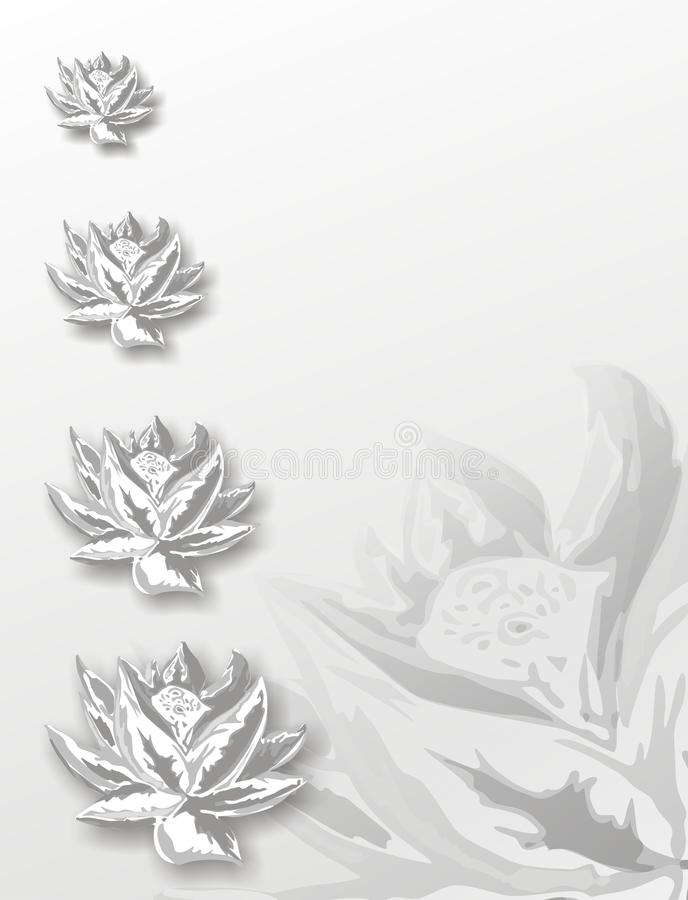 Lotus floral background