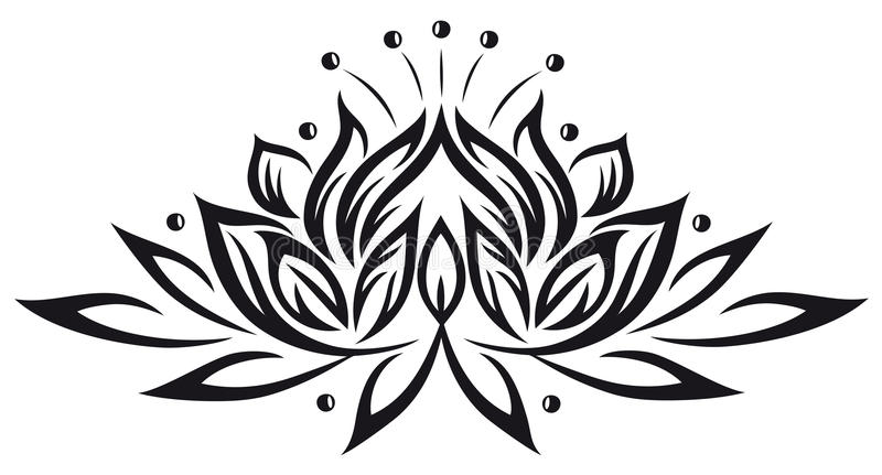 Lotus, flores ilustração royalty free
