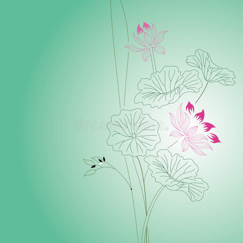 Download Lotus flower stock vector. Image of object, peace, garden - 18488830