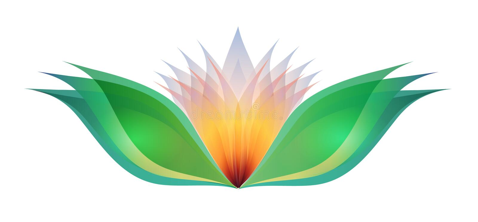 Download Lotus flower stock vector. Image of translucent, warm - 8502660