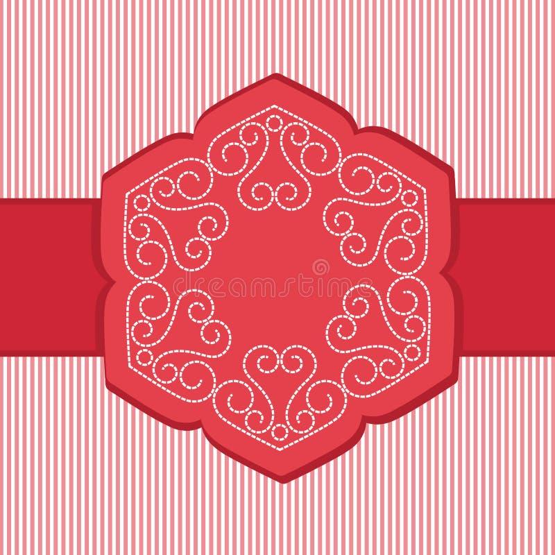 Lotus Flower Banner única ilustración del vector
