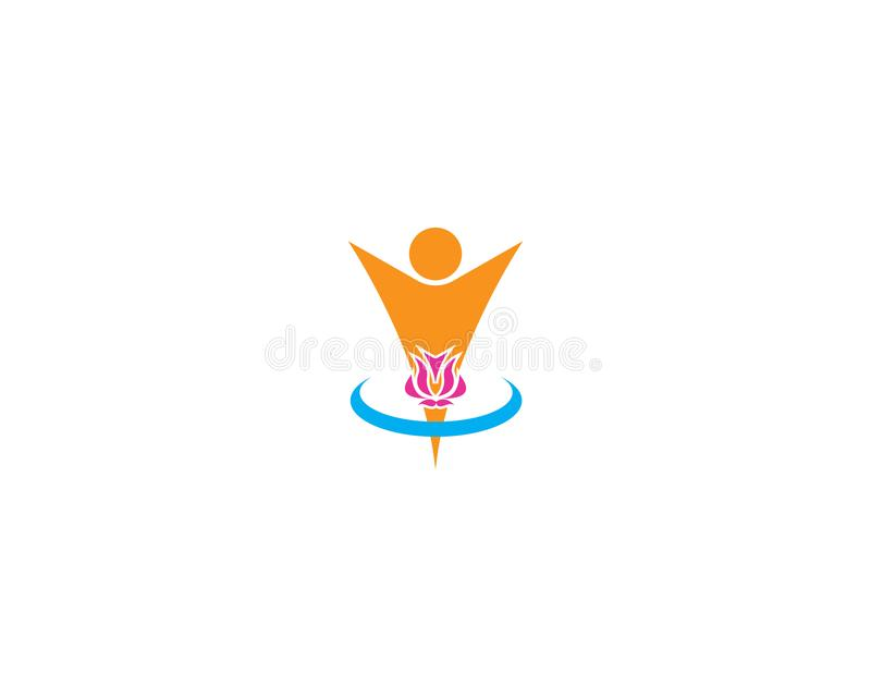 Lotus flower beauty spa logo design template royalty free illustration