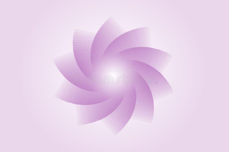 Lotus Flower Design - papier peint coloré par pourpre illustration stock