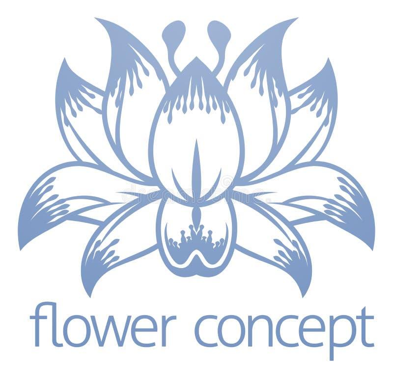 Lotus Flower Floral Design Concept symbol royaltyfri illustrationer